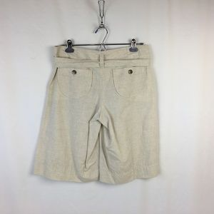 Theory Lizette Gaucho Shorts 8 Medium Cotton Linen